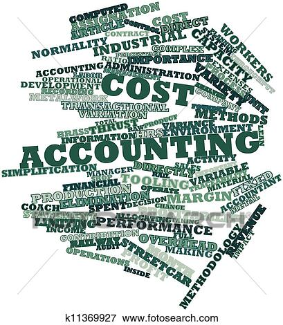 Cost accounting Stock Illustration | k11369927 | Fotosearch