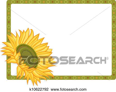 country sunflower border clipart