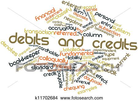 Debits and credits Stock Illustration | k11702684 | Fotosearch