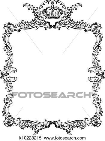 Decorative Vintage Ornate Frame. Vector Illustration