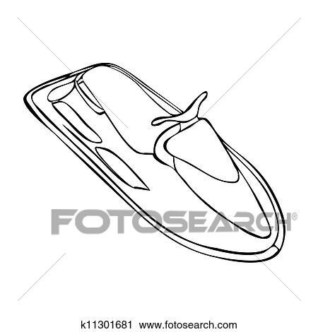 Isolated Jet-Ski Clipart k11301681