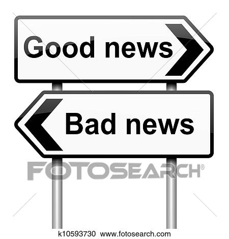 Stock Illustrations of Good or bad news. k10593730