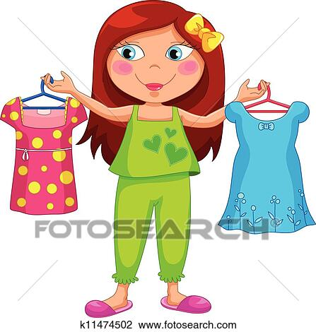 Clipart of getting dressed k11474502 Search Clip Art