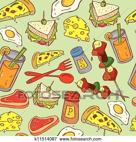 美工圖案 - 食物背景, 圖案 k11514087 - 搜尋美工圖片,插圖海報,圖示和向量 EPS 圖像 - k11514087.eps
