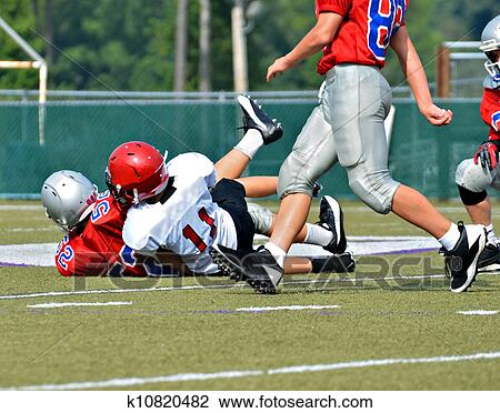 Making a Tackle Stock Image | k10820482 | Fotosearch