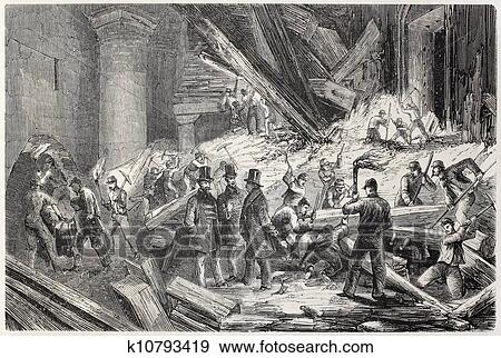 Rescue after collapse Stock Illustration | k10793419 | Fotosearch