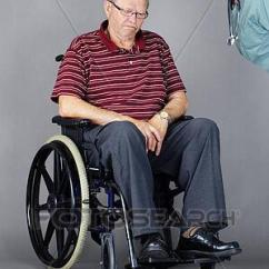Wheelchair Man Office Chairs For Bad Backs Stock Photo Of Sad Senior In Being Shouted At By Elder Abuse Concept With Head Down A As Crazy Nurse Or Other Health Care Worker Is Yelling Him