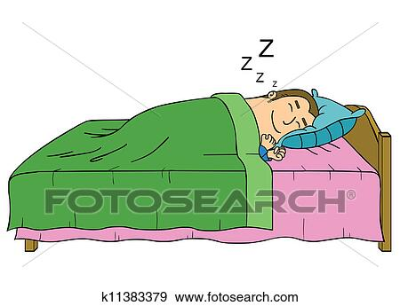 Sleeping Man Clip Art K11383379 Fotosearch