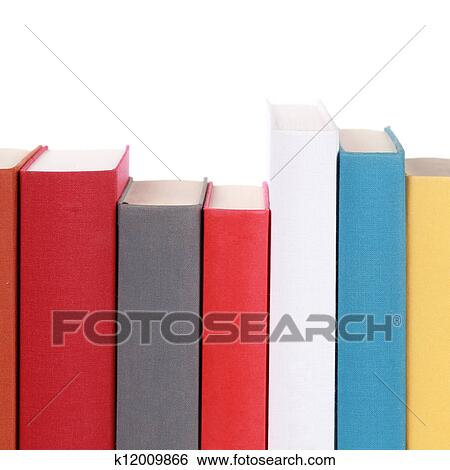 Colorful book spines Stock Photograph   k12009866   Fotosearch