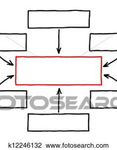 Stock photo empty flow chart red marker fotosearch search photography print also of  rh