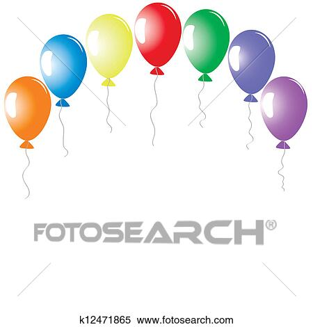 clipart of arch with balloons k12471865
