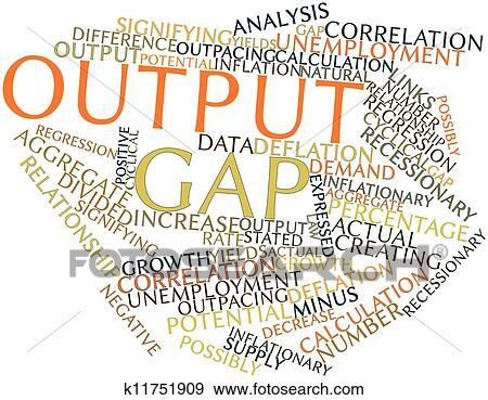 Output gap Stock Illustration | k11751909 | Fotosearch