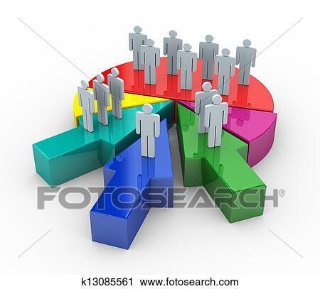 3d business merge concept Clip Art   k13085561   Fotosearch