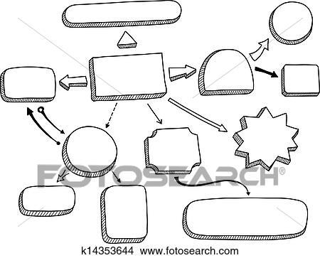 Clipart of Flowchart vector illustration k14353644