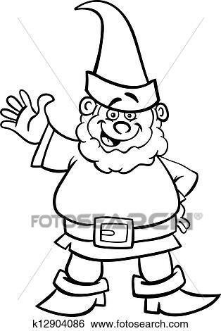 Clip Art - wichtel oder zwerg karikatur für