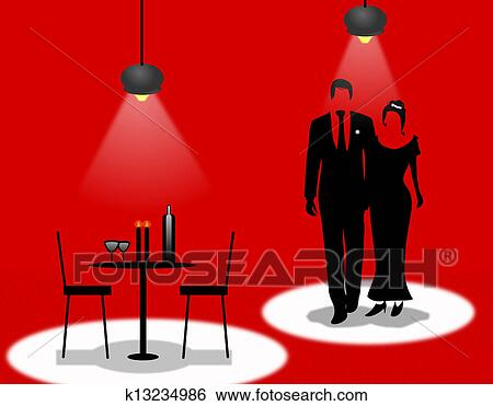 stock illustration of romantic