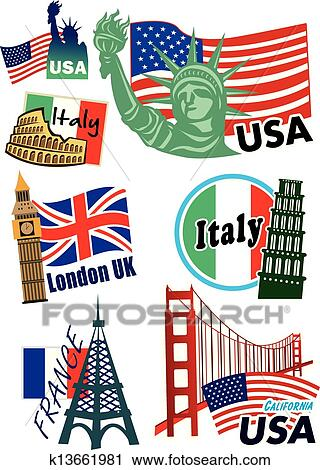 clipart of worldwide country sticker