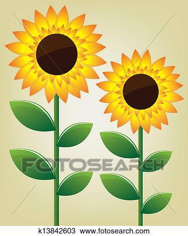 剪圖Clipart - 向日葵. 插圖 k13842603 - 搜尋美工圖片、插圖壁畫、圖示和向量 EPS 圖像 - k13842603.eps