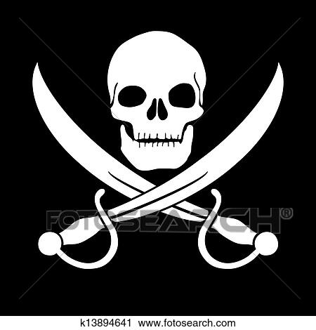 Clipart of Pirate skull k13894641 Search Clip Art
