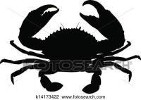 Clipart of Single crab silhouette. k14173422 - Search Clip ...