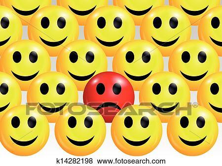 sad smiley face among
