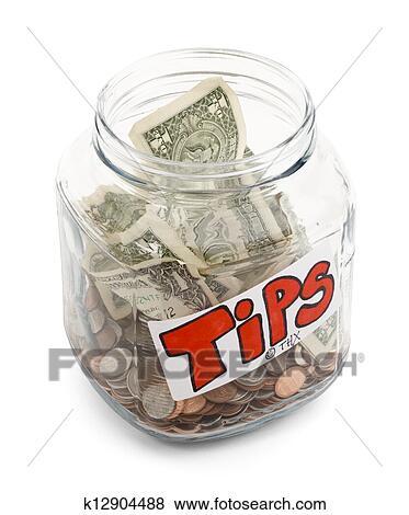 Tip Jar Stock Photo | k12904488 | Fotosearch