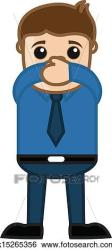 mouth cartoon clip close business clipart vector fotosearch illustration businessman drawing drawings placing hands young csp993