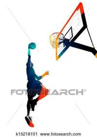 Clipart of Funky Basketball Slam Dunk k15218101 - Search ...