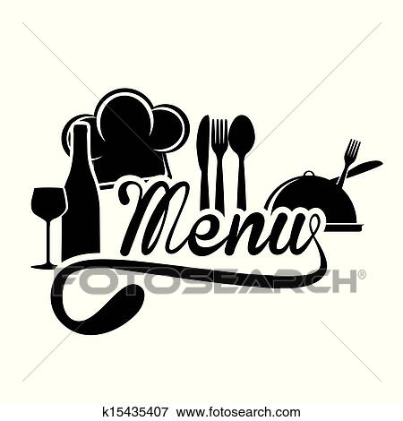 Clip Art of menu design k15435407  Search Clipart Illustration Posters Drawings and EPS
