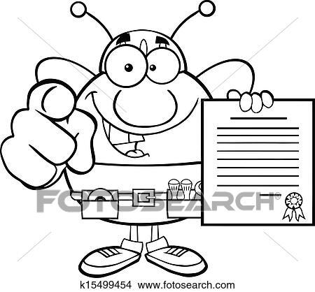 Schwarz Weiß Biene Arbeiter Clipart