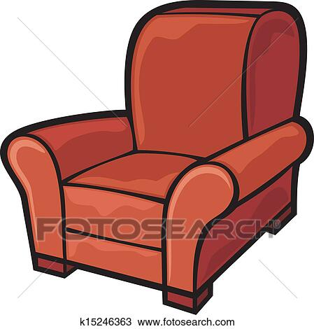 large tub chair small folding beach chairs uk clipart of armchair leather k15246363 search clip art fotosearch illustration