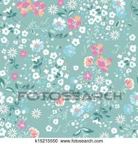 Clipart of pastel floral seamless background k15215550 ...