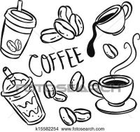Clipart of Coffee doodle k15582254 - Search Clip Art ...