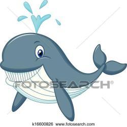 cartoon whale cute clip fotosearch illustration vector