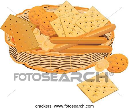 stock illustration of crackers
