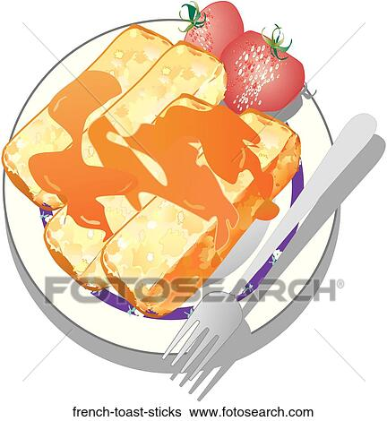 Stock Illustration of French Toast Sticks frenchtoast