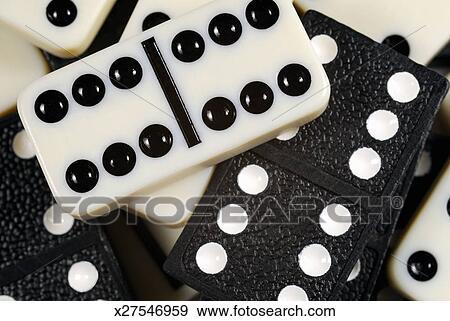 Domino pieces, close up, studio shot Stock Photo | x27546959 | Fotosearch