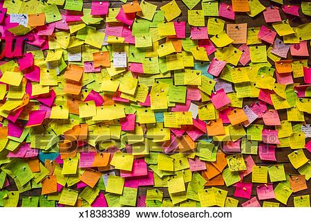 wall covered in post
