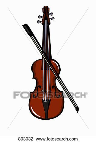 A violin and bow Clipart | 803032 | Fotosearch