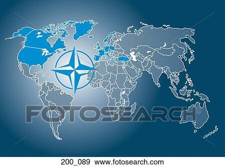 Landkarte, von, nato Stock Foto | 200_089 | Fotosearch