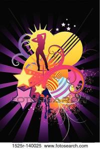 Stock Illustration of Funky Dance Elements 1525r-140025 ...