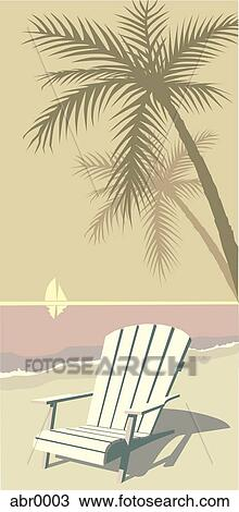 Drawing of beach chair abr0003  Search Clipart