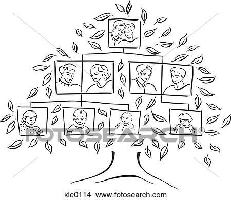 Dessins  a arbre gnalogique kle0114  Recherche de Clip Arts dIllustrations et dImages