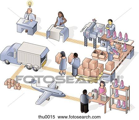 Stock Illustration of manufacturing company thu0015