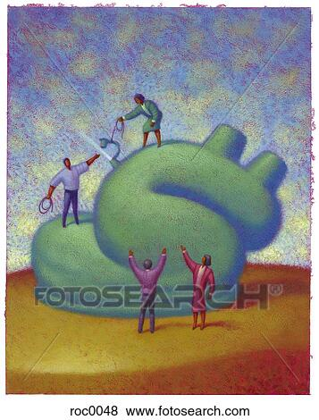 Dollar deflation Stock Illustration   roc0048   Fotosearch