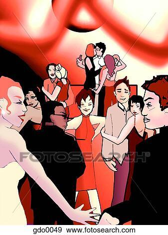 stock illustration of prom night