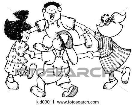 clipart of illustration children