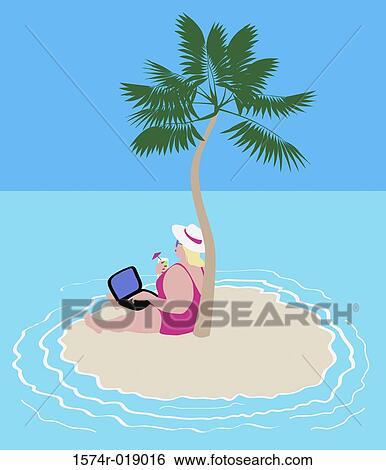Stock Illustration of Online Anywhere 2005 Linda Braucht