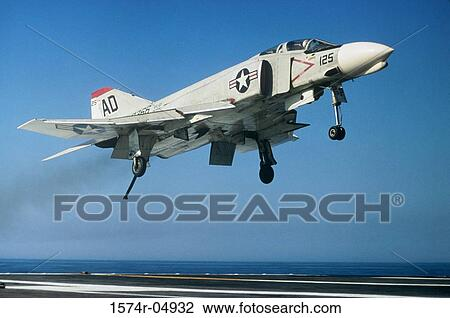 F-4 Phantom jet fighter taking off from an aircraft carrier Stock Image | 1574r-04932 | Fotosearch