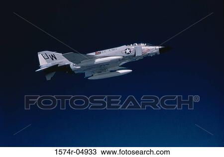 Low angle view of an F-4 Phantom in flight Stock Image | 1574r-04933 | Fotosearch